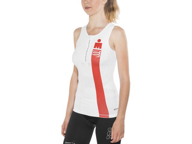 Compressport TR3 Triathlon Tank Top Irnmn Edition Women, smart white
